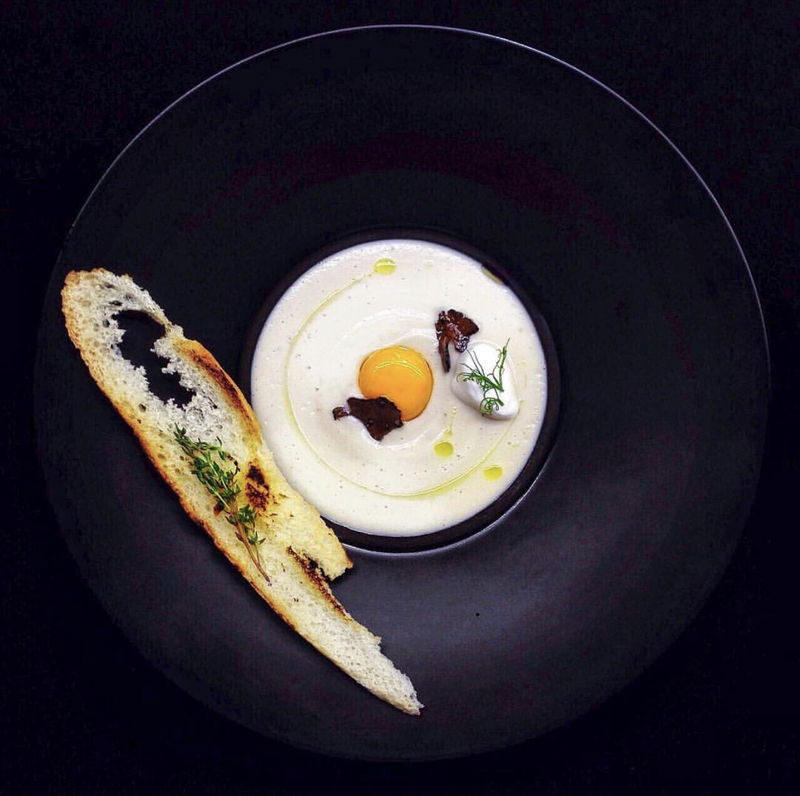 chefs to follow on Instagram, food pics, social media, The Staff Canteen, Instagram Top Ten 10. Cauliflower cream soup with truffles and egg yolk