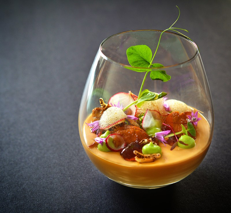 https://www.thestaffcanteen.com/public/js/tinymce/plugins/moxiemanager/data/files/01 Insta Top Ten Dec 2018/Uni soy milk panna cotta with ponzu gelee%2C sweet pea%2C puffed wild rice%2C ponzu froth and uni by Michelle Tran.jpeg