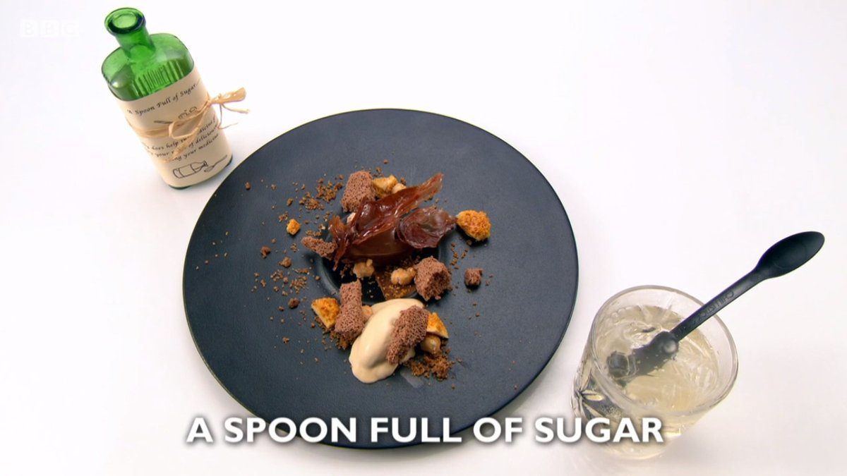 A spoonful of sugar by chef Ryan Simpson, Great British Menu 2018 dessert course for the Central region heat
