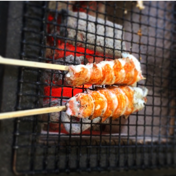 Japanese BBQ   langoustines low res