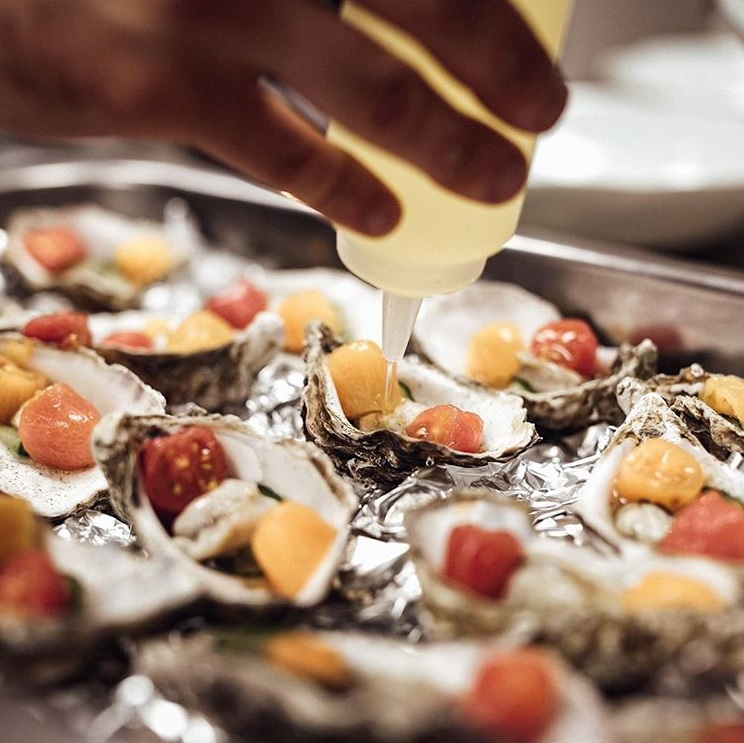 Oysters   prepped by Chef Darren Murray