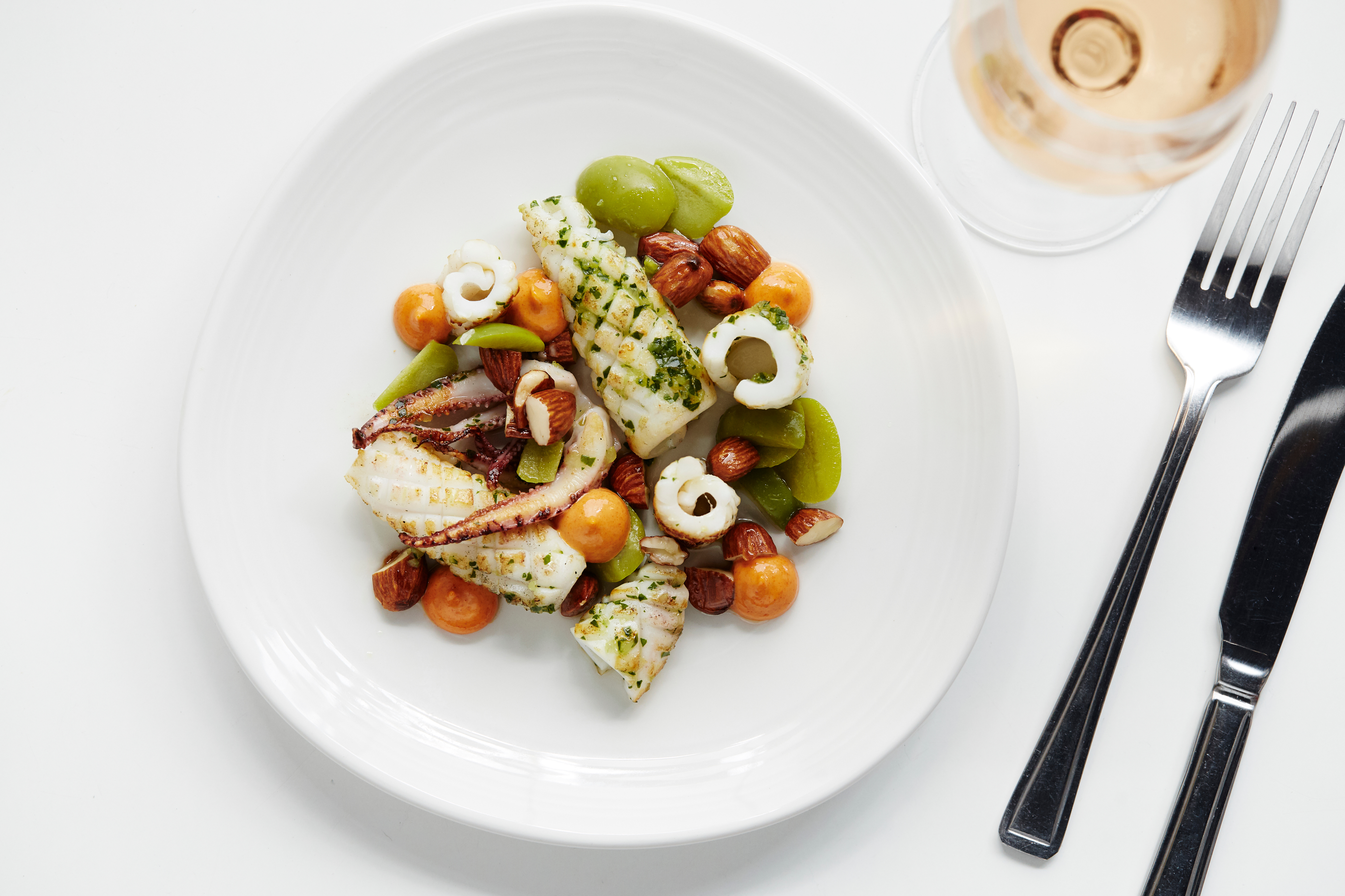 Grilled Penzance squid Photo credit Greg Funnell