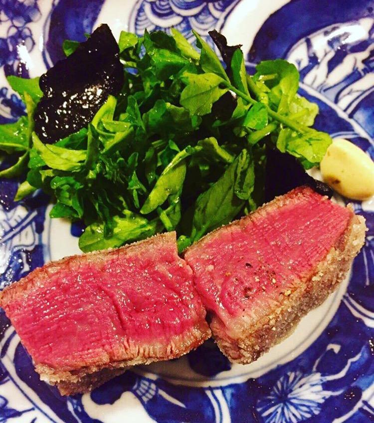 Beef tenderloin for miyazaki from three Michelin starred Kanda in Tokyo