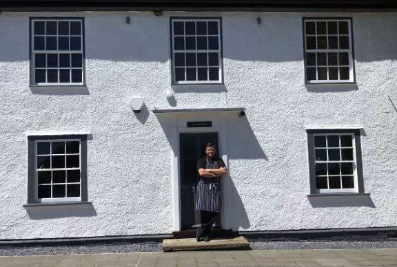 Mick Binnington outside the Windmill at Chatham Green