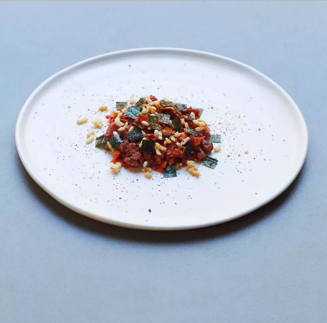 Hereford beef tartare and togarashi    Photography by David Oldham  for Two Lights