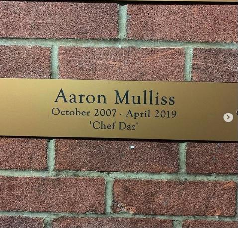 Aaron Mulliss plaque