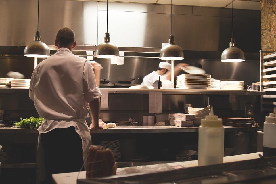 kitchen staff, Mike Duckett