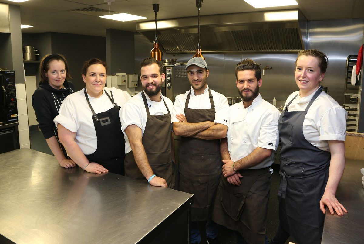 Jess Murphy with Syrian Chefs