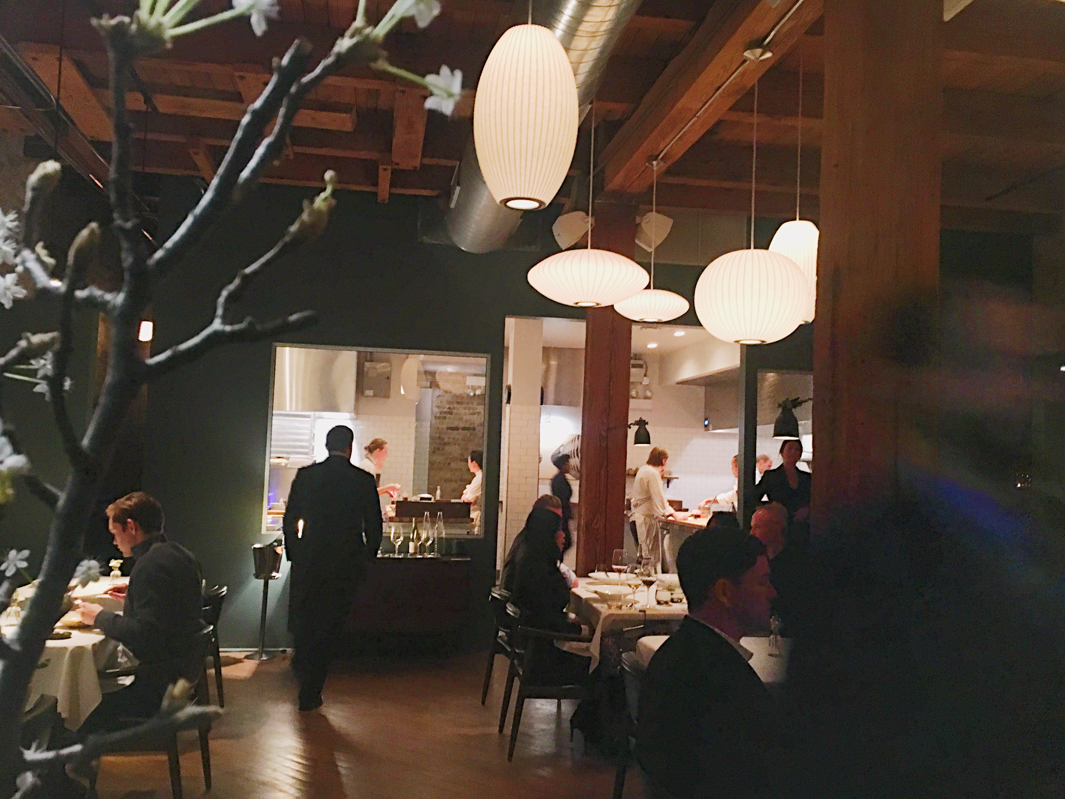 Dining room with people