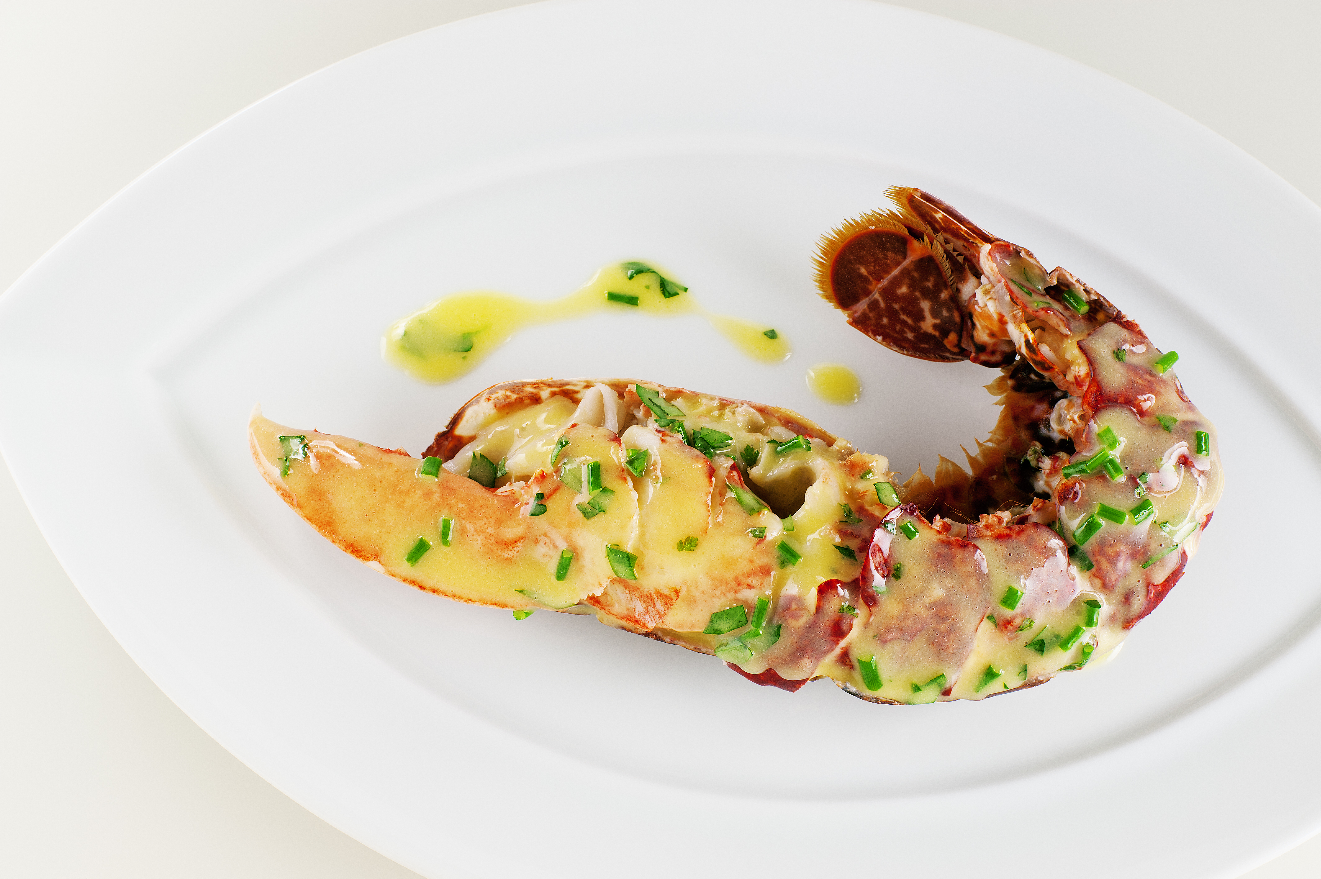 Homesmoked Lobster served with a lemon And lime butter sauce, Restaurant Andrew Fairlie