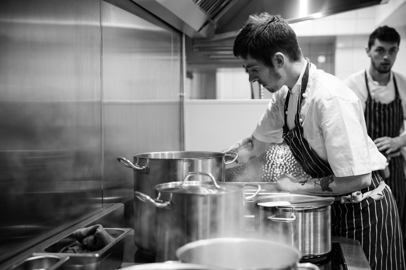 Sam Ashton-Booth, head chef at Stem - Cooking   Credit Jade Nina Sarkhel 13