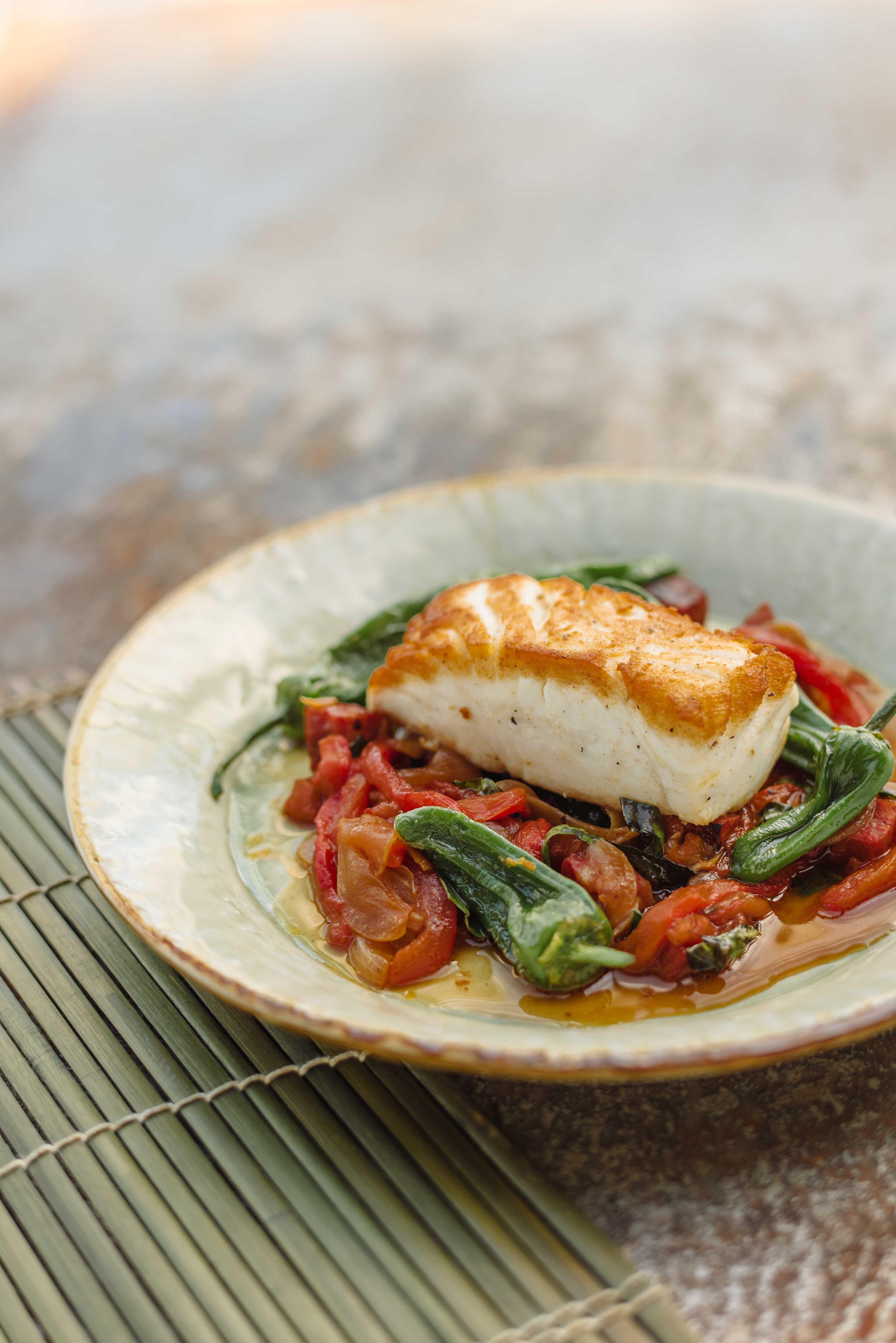 Halibut peppersTom Kitchin Fish & Shellfish 613