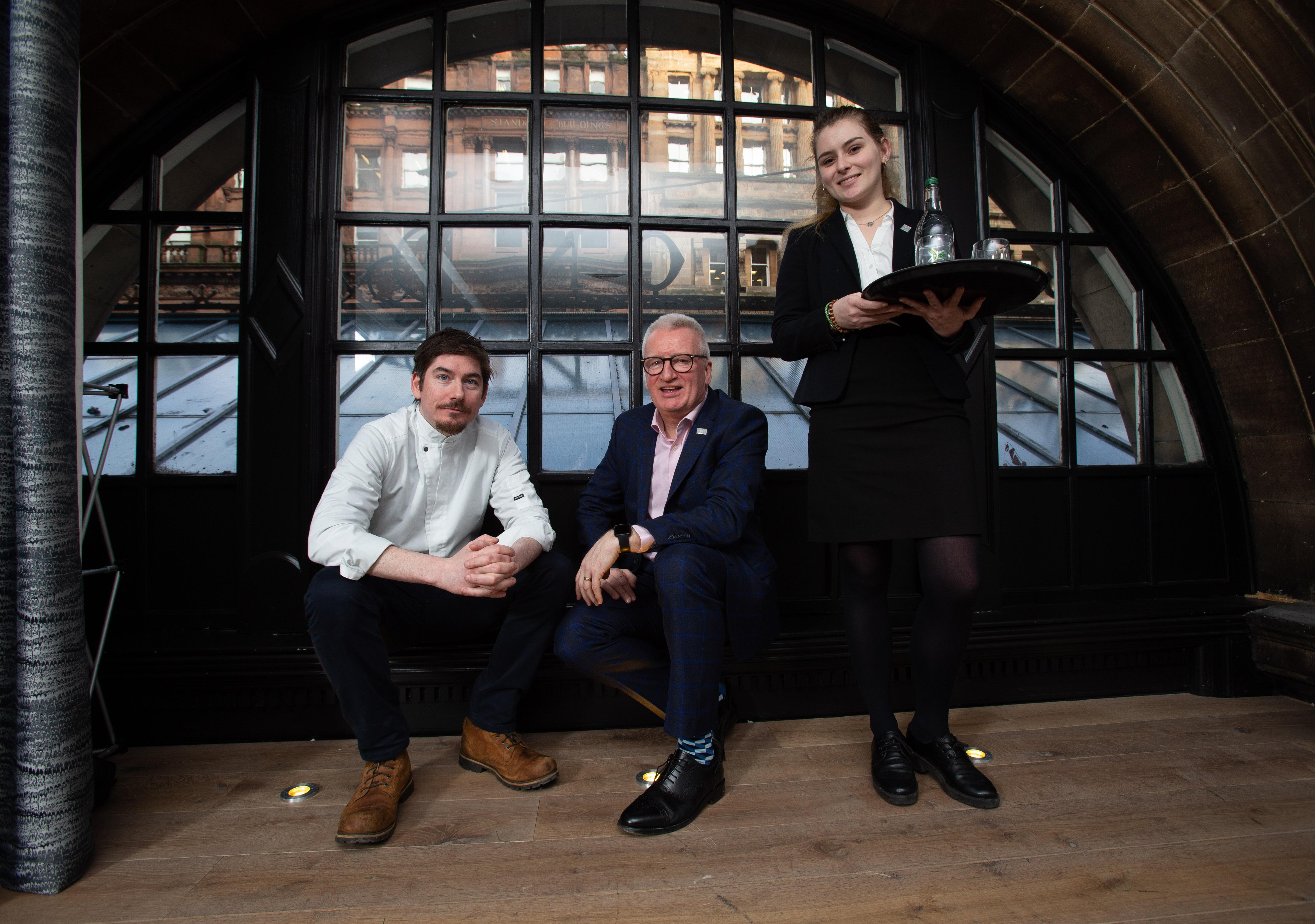 Hospitality Health launch LR Peter McKenna Gordon McIntyre Namara Robertson