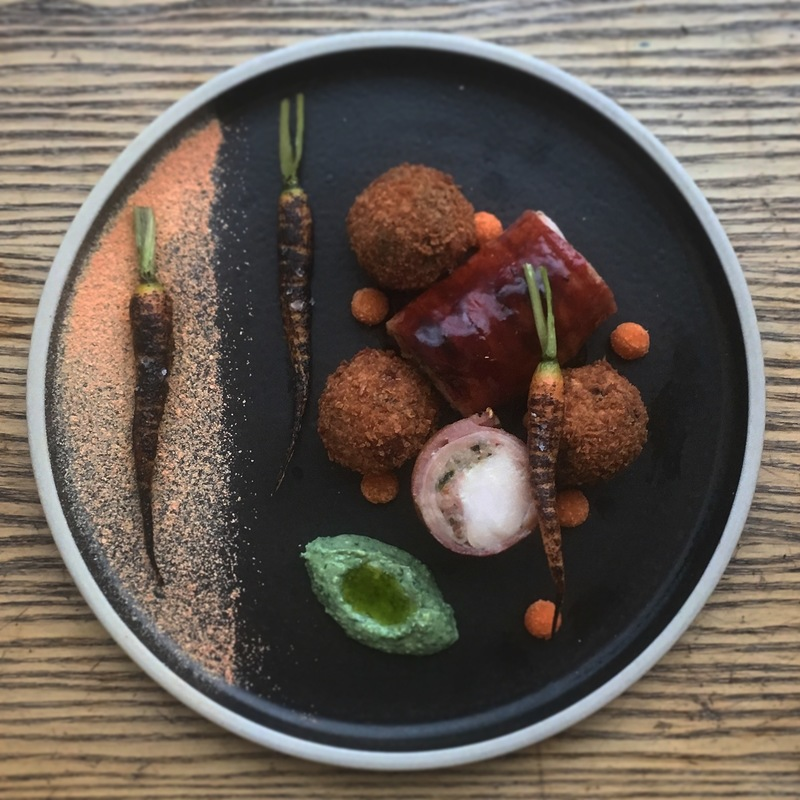 Rabbit, black pudding and carrots by chef Owen Morrice, chefs to follow on Instagram, food pics, social media, The Staff Canteen, Instagram Top Ten