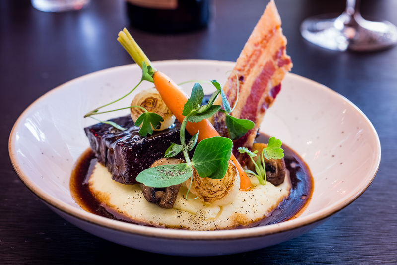 3. Beef bourguignon, chestnut mushrooms, baby carrot, crispy smoked ventreche, button onions by chef Walter Ishizuka, chefs to follow on Instagram, food pics, The Staff Canteen