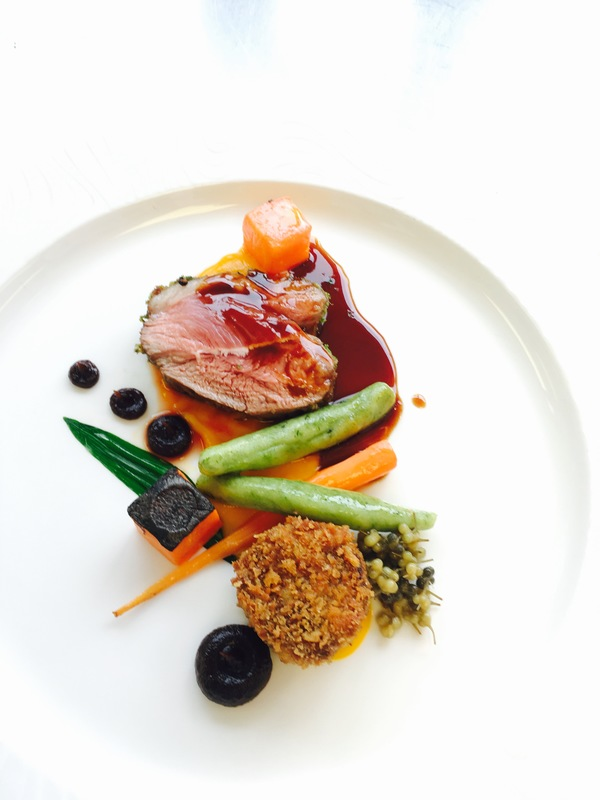 Duo of Lamb, carrot, wild garlic, burnt onion by chef Ulrich Hoeche, chefs to follow on Instagram, food pics, The Staff Canteen