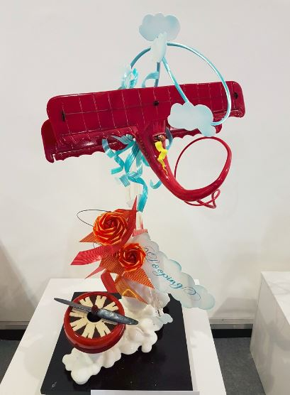 Chocolate and sugar sculpture%2C UK Pastry Open.JPG