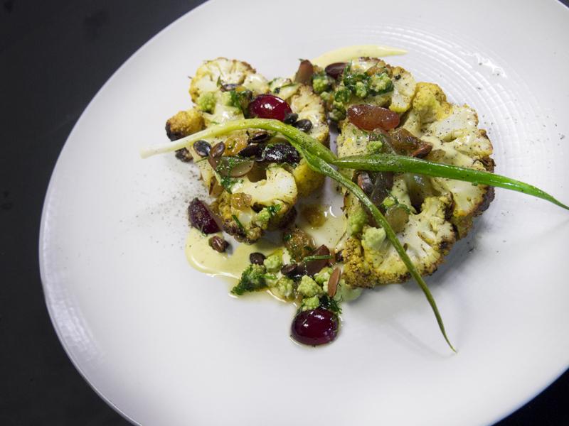 Whole roasted cauliflower by chef Justin Cogley