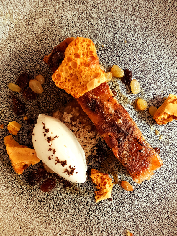 Bread & Butter Pudding   Honeycomb Hot Toddy ice cream