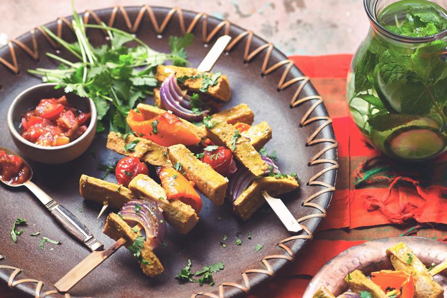 Kebab Skewers Vegan Fillets Recipe Web
