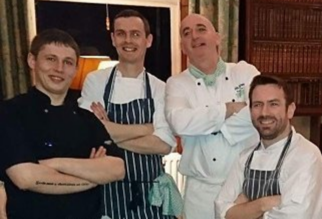 Chad Byrne and kitchen team, head chef at The Brehon Hotel, Killarney