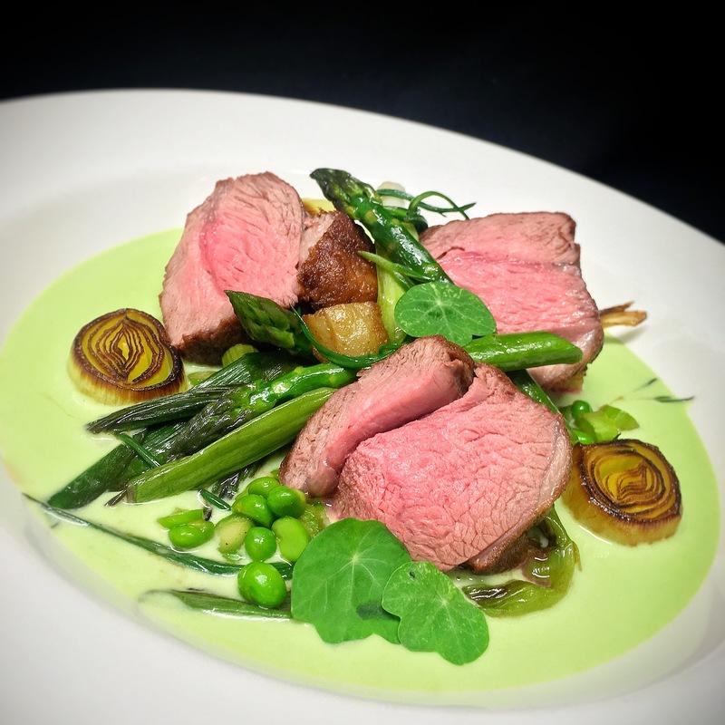 Lamb, Spring Vegetables, Leek and Potato Sauce by chef Gareth Jenkins