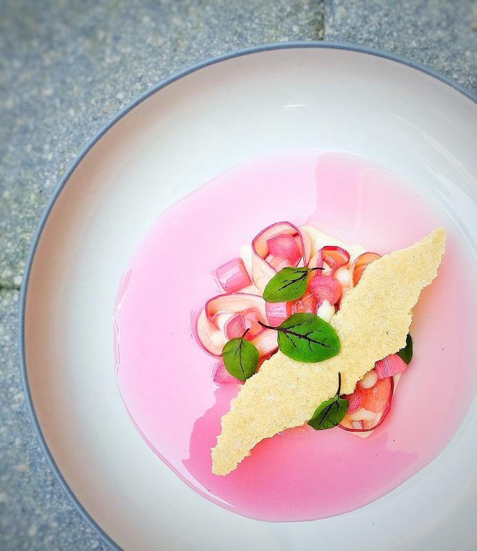 Rhubarb & Custard by chef Gareth Jenkins