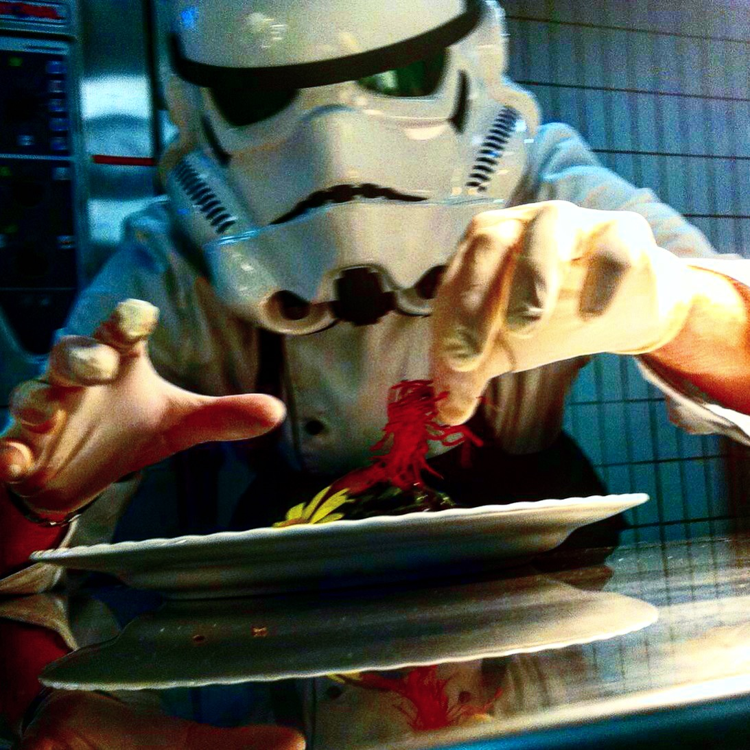Stormtrooper chef, Stefan Winheim, chef de cuisine, Hotel an der Therme Bad Orb