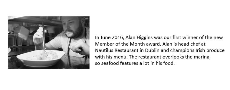 Alan Higgins, Nautilus Restaurant Malahide bio