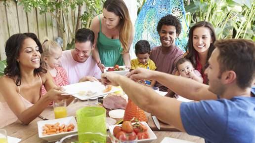 people eating food