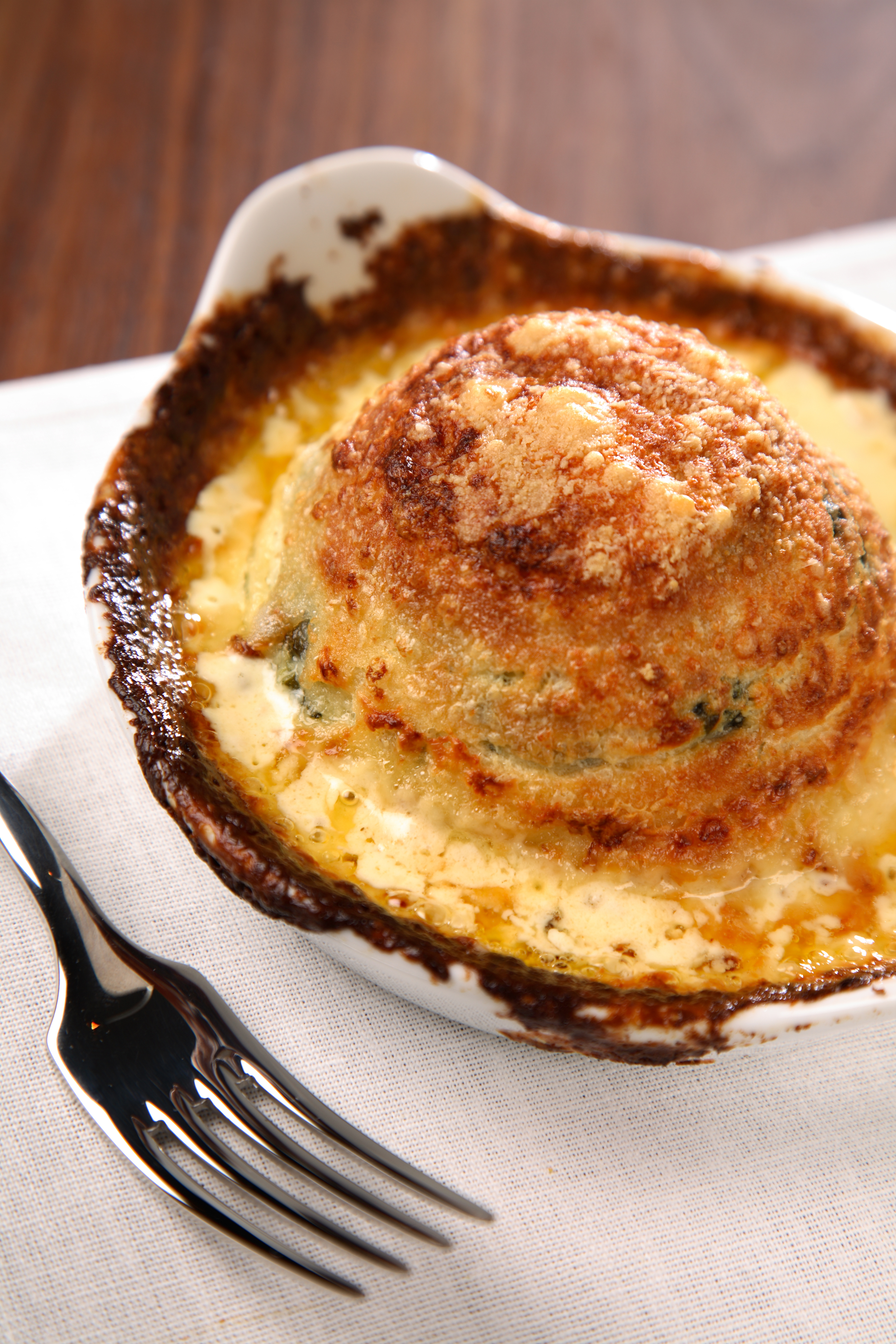 Cafe 21 at Fenwick's Cheese and Spinach Souffle