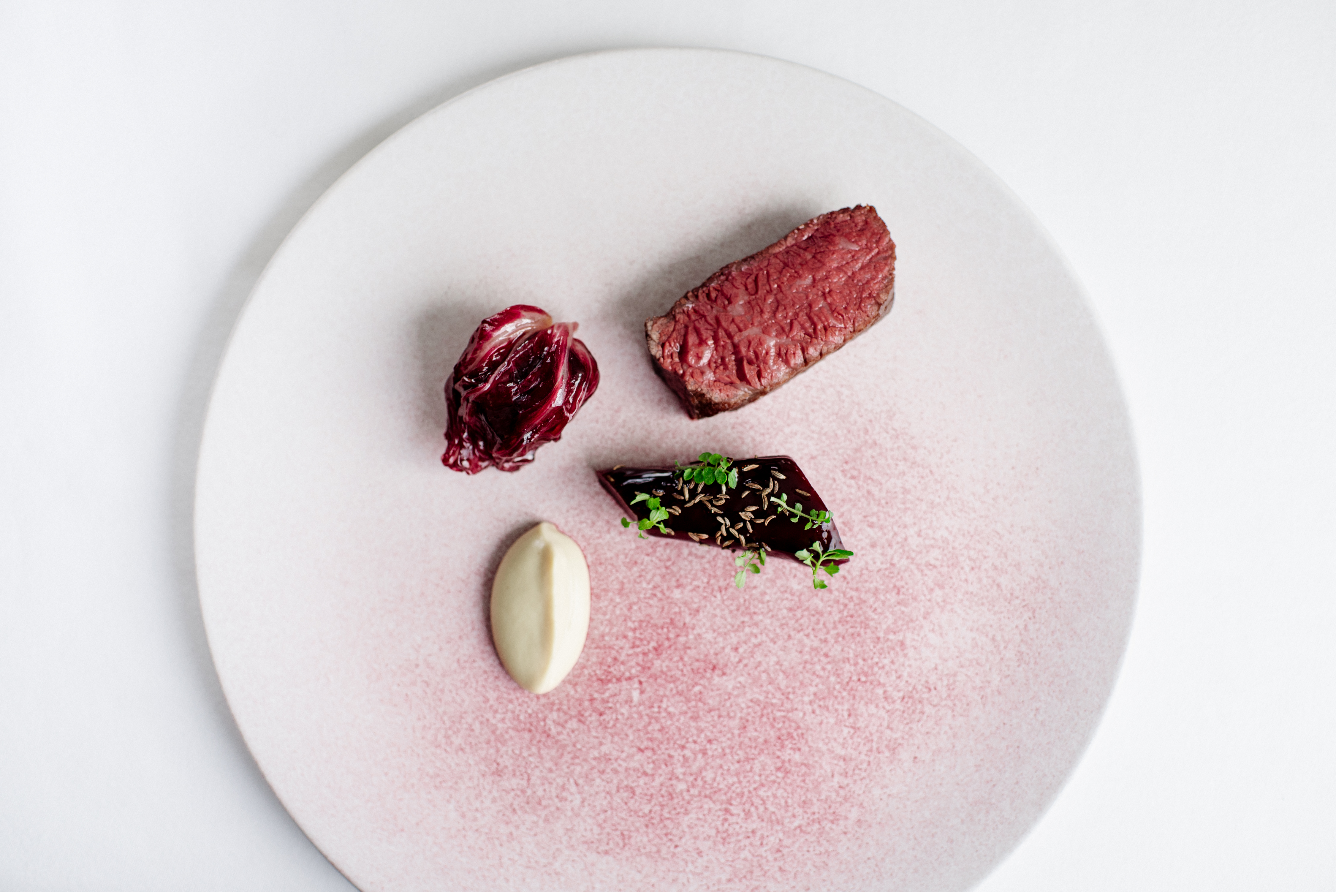 The Balmoral   Number One   Highland Wagyu Beef%2C Beetroot%2C Smoked Bone Marrow%2C Bitter Leaf