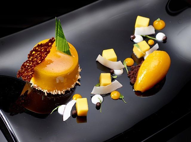 Mango and coconut by chef Greg Cadoni, chefs to follow on Instagram, food pic
