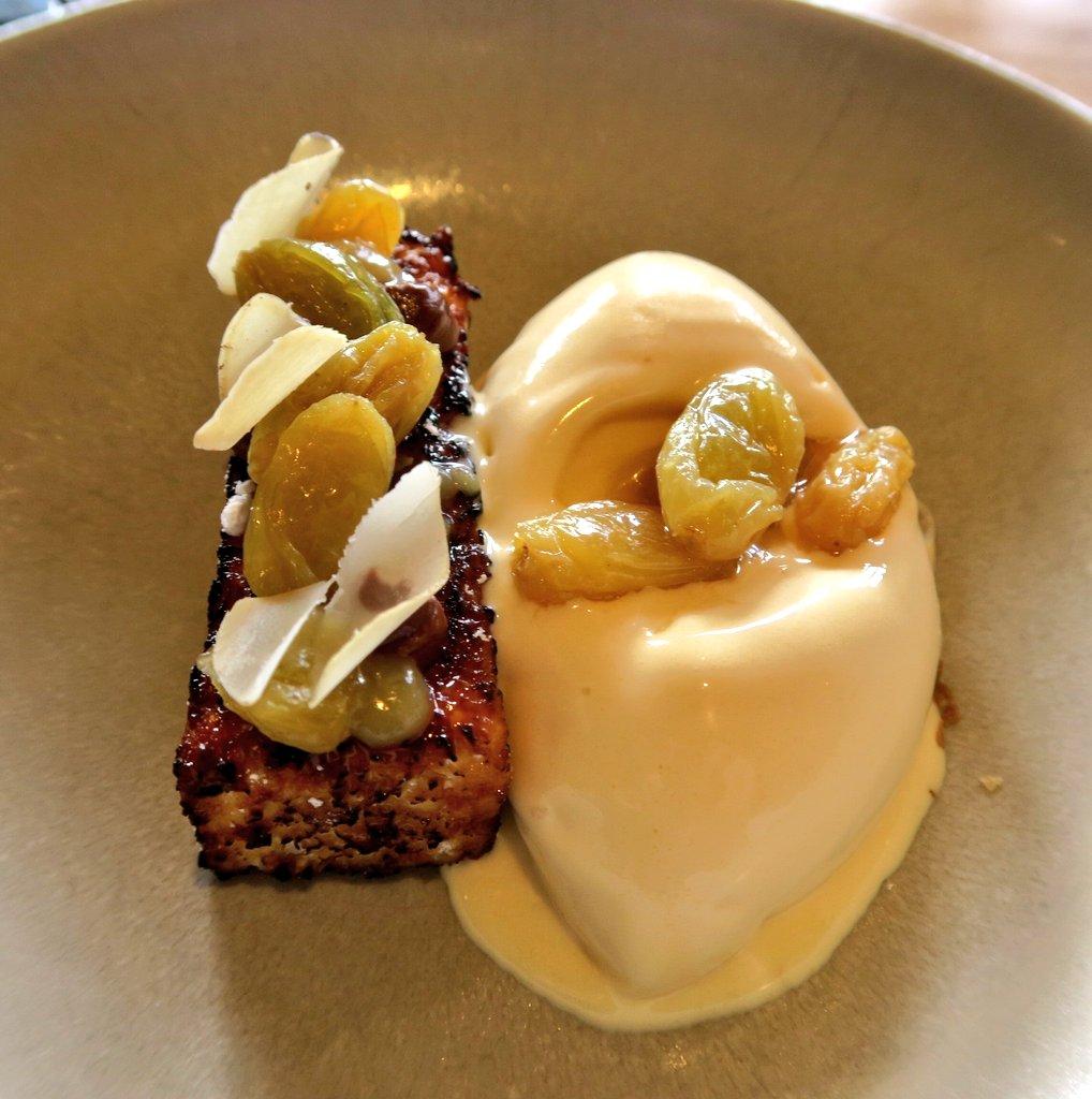 Brioche and Maple soft serve, PX Raisins - Upstairs at Trinity - Adam Byatt