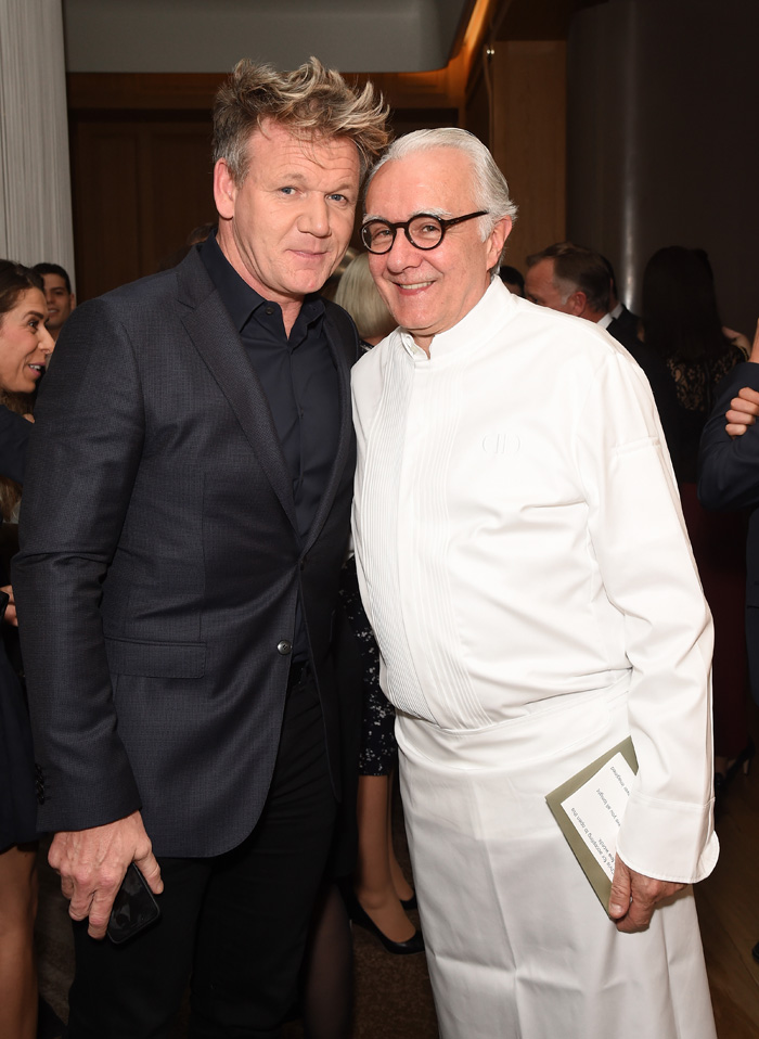 Gordon Ramsay and Alain Ducasse attend 10th anniversary of Alain Ducasse at The Dorchester