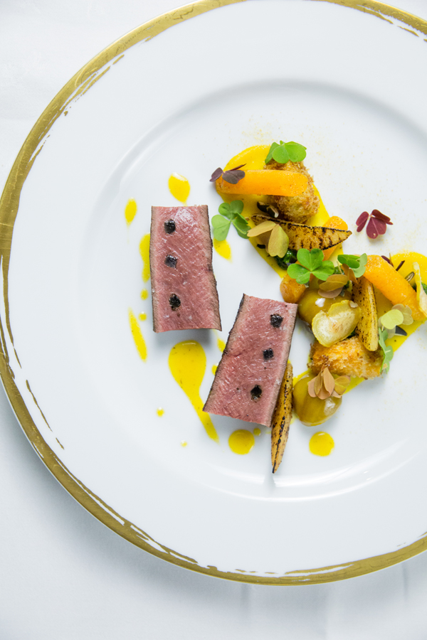 Restaurant Le Meurice Alain Ducasse - Saddle of Venison 'grand Veneur'%2C squash low res