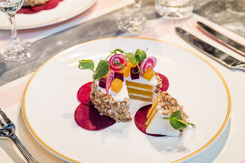 Beetroot and Goats Cheese Gateau