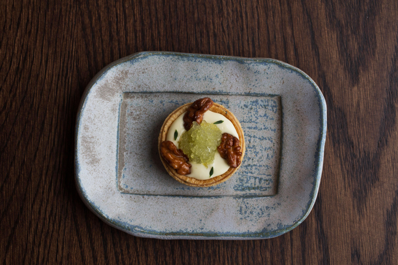 Cornish Jack, Celery and Walnuts at Restaurant Nathan Outlaw - credit Beth Druce