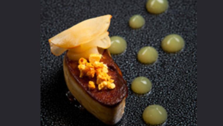 plum and foie gras